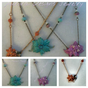 Small assemblage necklaces