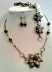 Convertible necklace and bracelet with matching earrings
